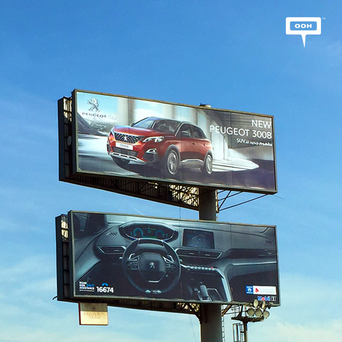 Peugeot focuses OOH promotion on the new 3008